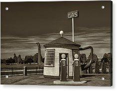 Vintage Gas Station - Zillah Teapot Dome  Acrylic Print