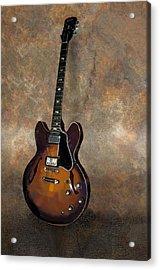 Vintage Gibson 335 Electric Guitar Acrylic Print by Bradford Adams