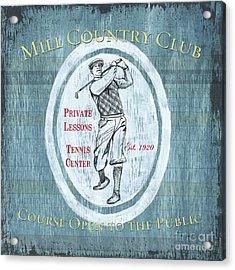 Vintage Golf Blue 2 Acrylic Print