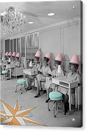 Vintage Hair Salon Acrylic Print
