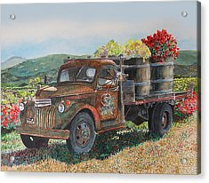 Vintage Harvest Acrylic Print by Gail Chandler