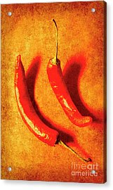 Vintage Hot Curry Peppers Acrylic Print by Jorgo Photography - Wall Art Gallery