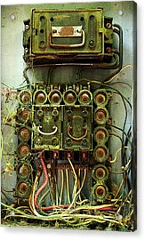 Vintage Household Fuse Box Acrylic Print by Michael Eingle
