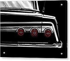 Vintage Impala Black And White Acrylic Print by Douglas Pittman