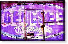 Vintage Industrial Genesee Beer Sign Acrylic Print by Peter Gumaer Ogden