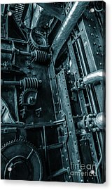 Vintage Industrial Pipes Acrylic Print by Carlos Caetano