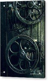 Vintage Industrial Wheels Acrylic Print