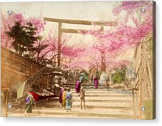 Vintage Japanese Art 25 Acrylic Print by Hawaiian Legacy Archive - Printscapes