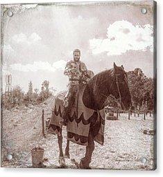 Vintage Knight Acrylic Print
