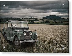 Vintage Land Rover In Field Acrylic Print