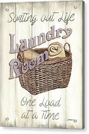 Acrylic Print featuring the painting Vintage Laundry Room 2 by Debbie DeWitt