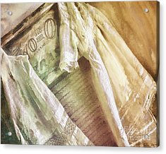 Vintage Laundry Washboard Acrylic Print by Mindy Sommers