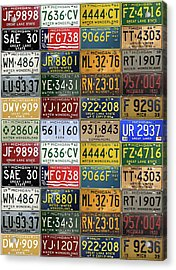 Vintage License Plates From Michigan's Rich Automotive Past Acrylic Print by Design Turnpike