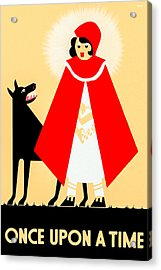 Vintage Little Red Riding Hood Poster Acrylic Print