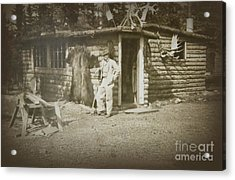 Acrylic Print featuring the photograph Vintage Log Cabin by Linda Phelps