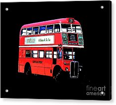 Vintage London Bus Tee Acrylic Print