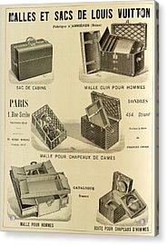 Vintage Louis Vuitton Advertisement - 1898 Acrylic Print