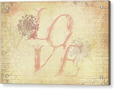 Acrylic Print featuring the photograph Vintage Love by Caitlyn Grasso
