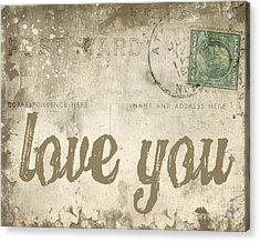 Acrylic Print featuring the photograph Vintage Love Letters by Edward Fielding