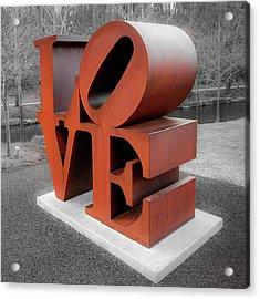 Vintage Love Sculpture - Crystal Bridges Museum Of Art 1x1 Acrylic Print