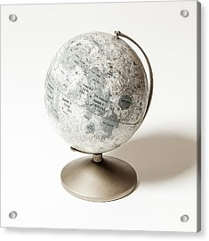 Acrylic Print featuring the photograph vintage Lunar Globe by Edward Fielding