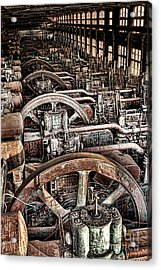 Vintage Machinery Acrylic Print by Olivier Le Queinec
