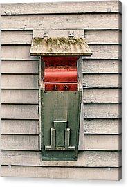 Acrylic Print featuring the photograph Vintage Mailbox by Gary Slawsky