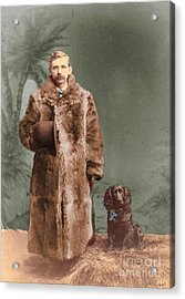 Acrylic Print featuring the photograph Vintage Man And Spaniel Dog by Lyric Lucas