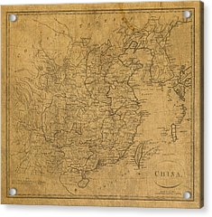Vintage Map Of China 1799 Acrylic Print by Design Turnpike