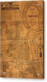 Vintage Map Of Omaha Nebraska 1878 Acrylic Print by Design Turnpike