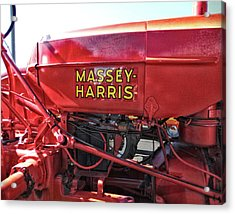 Acrylic Print featuring the photograph Vintage Massey Harris Tractor by Ann Powell