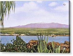 Vintage Mauna Kea Acrylic Print by Hawaiian Legacy Archive - Printscapes