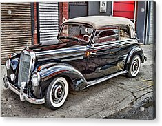 Vintage Mercedes Beauty Shot Acrylic Print