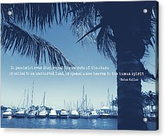 Vintage Miami Quote Acrylic Print by JAMART Photography