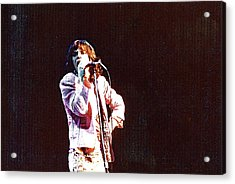 Vintage Mick 1975 Acrylic Print by Claire McGee