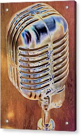 Vintage Microphone Acrylic Print by Pamela Williams