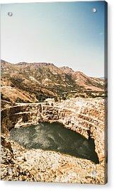 Vintage Mining Pit Acrylic Print