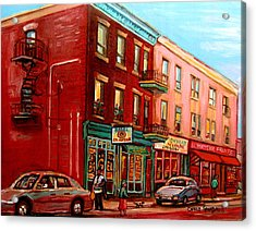 Vintage Montreal Acrylic Print by Carole Spandau