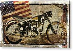 Vintage Motorcycle Road Demon Acrylic Print