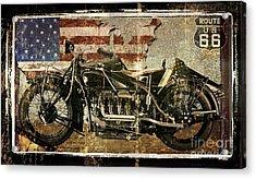 Vintage Motorcycle Unbound Acrylic Print