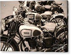 Vintage Motorcycles Acrylic Print by Ari Salmela