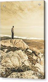 Vintage Mountain Dreamer Acrylic Print