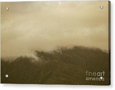 Vintage Mountains Covered By Cloud Acrylic Print