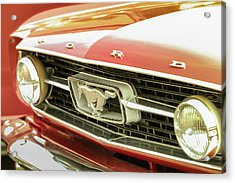 Acrylic Print featuring the photograph Vintage Mustang by Caitlyn Grasso