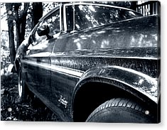 Vintage Mustang Acrylic Print by Heather S Huston