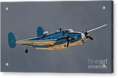 Vintage Naval Twin With Proptip Vortices 2011 Chino Planes Of Fame Air Show Acrylic Print by Gus McCrea