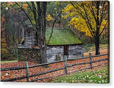 Vintage New England Cabin Acrylic Print by Bill Wakeley