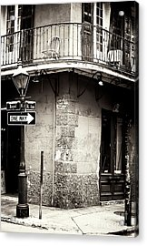 Vintage New Orleans French Quarter Acrylic Print