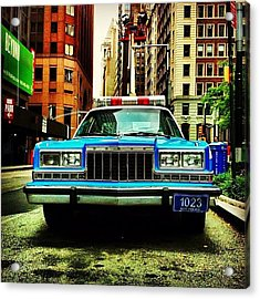 Vintage Nypd. #car #nypd #nyc Acrylic Print