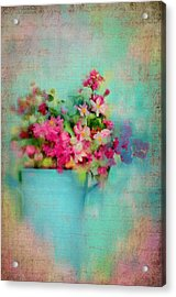 Flowers From A Cottage Garden Acrylic Print